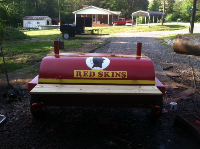 redskins bbq smoker